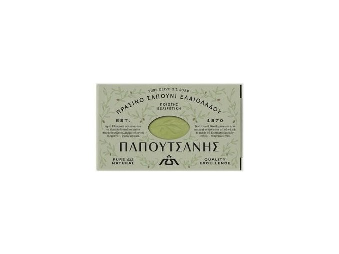 knossos olivove mýdlo zelene