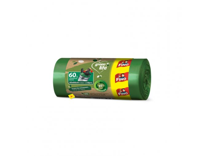 fino pytle na odpad z recyklovanho.plastu 60l zelenadomacnost