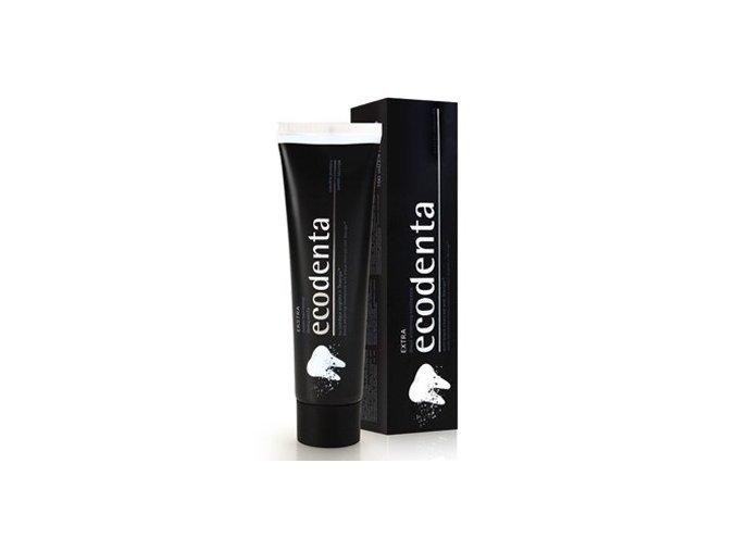 Ecodenta Černá bělící zubní pasta s černým uhlím a Teavigo 100ml