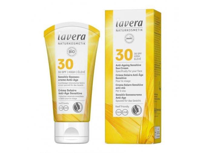 lavera opalovaci krem sensitiv spf 30 anti ageing 50ml