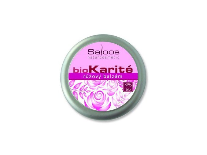 Saloos BIO karité Růžový balzám 250ml