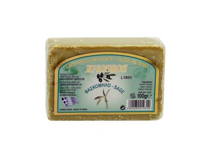 Knossos Olivové mýdlo Šalvěj 100g