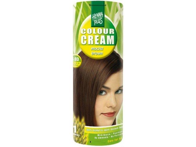 HennaPlus přírodní barva na vlasy krémová mocca hnědá 4.03 60ml