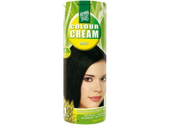 HennaPlus přírodní barva na vlasy krémová černá 1 60ml