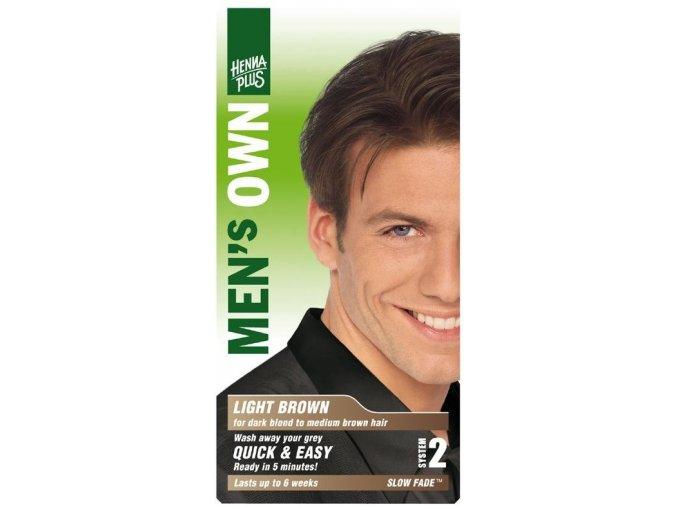 HennaPlus přírodní barva na vlasy pro muže světle hnědá 80ml