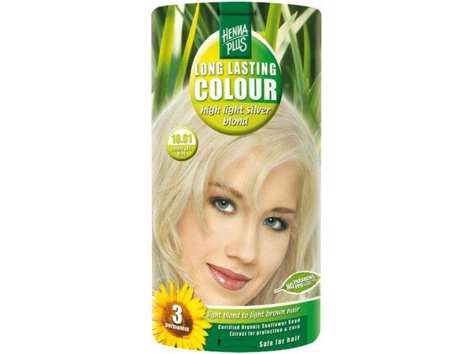HennaPlus dlouhotrvající barva extra stříbrná blond 10.01 100ml