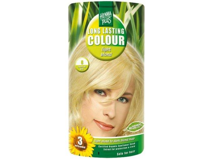HennaPlus dlouhotrvající barva světlá blond 8 100ml