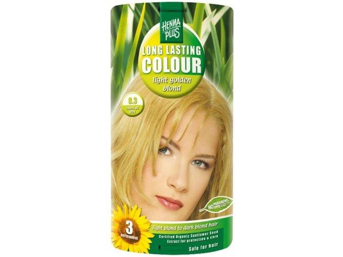 HennaPlus dlouhotrvající barva světle zlatá blond 8.3 100ml