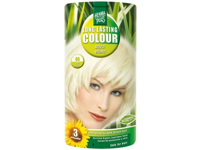 HennaPlus dlouhotrvající barva ultra blond 00 zesvětlující 100ml