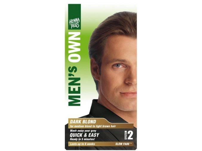 HennaPlus přírodní barva na vlasy pro muže tmavá blond 80ml