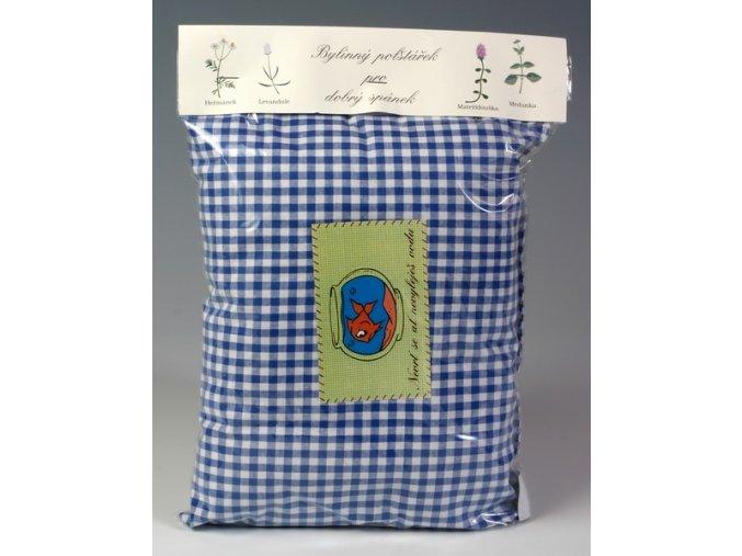 Bylinný polštářek pro dobrý spánek fialový s bílými puntíky