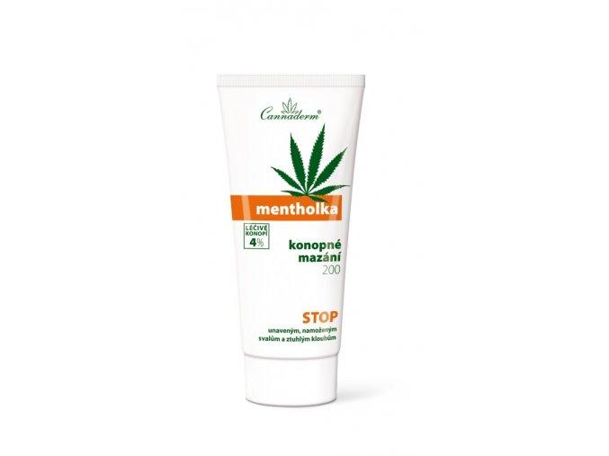 Cannaderm Mentholka osvěžující a chladivý masážní gel 200g
