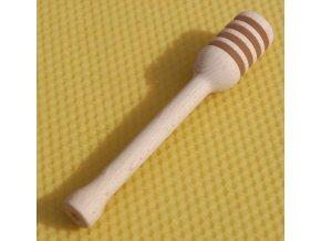 Pleva Dřevěná naběračka na med