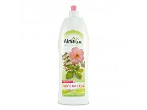 Almawin Tekutý prostředek na nádobí Bio Divoká růže - Bio Meduňka 1l