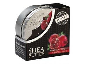 Topvet Bambucké máslo (shea butter 100%) s granátovým jablkem 100ml