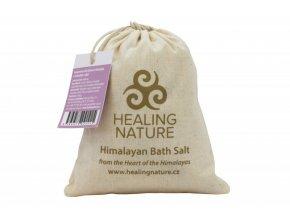 Healing Nature Koupelová sůl s květem levandule a růže 1kg