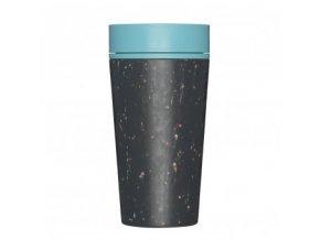 rcup opakovane pouzitelny kelimek na kavu z recyklovanych kelimku modra black and teal