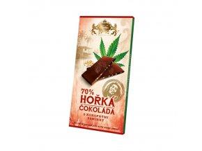 horka cokolada carla s konopnym seminkem