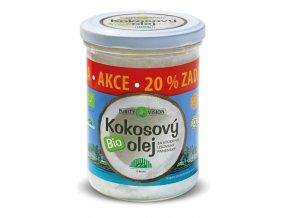 Purity Vision Kokosový olej panenský BIO 300ml+20% zdarma
