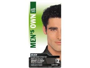 HennaPlus přírodní barva na vlasy pro muže černá 80ml