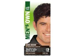 HennaPlus přírodní barva na vlasy pro muže tmavě hnědá 80ml