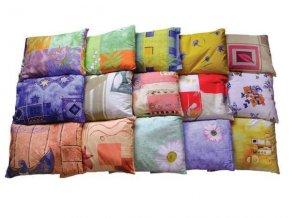 Pohankový polštář pro zdravý spánek béžovo-tm.hnědá a oranžová abstrakce