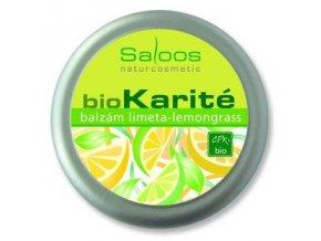Saloos BIO karité Limeta-Lemongrass balzám 19ml