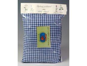 Bylinný polštářek pro dobrý spánek modrobílá kostka