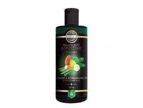 Topvet Koupelový a tělový olej Bergamot a citronová tráva v mandlovém oleji200ml