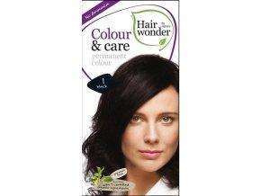 Hairwonder Přírodní dlouhotrvající barva BIO ČERNÁ 1