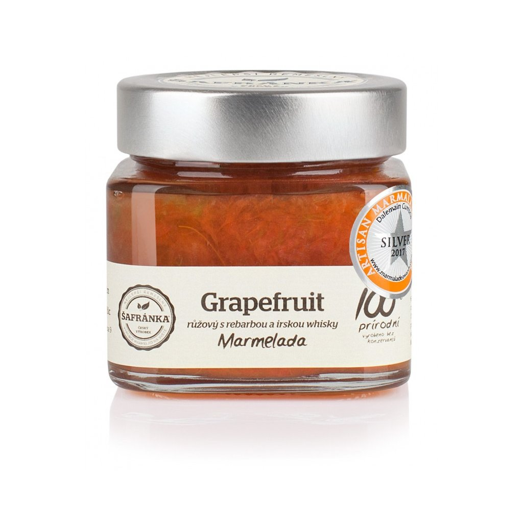 Marmeláda s grapefruitem rebarborou a irskou whisky 270 g