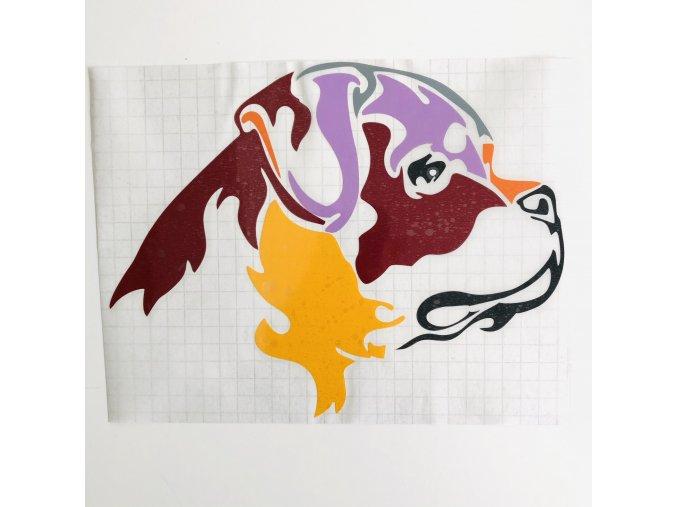 barevná samolepka rotvajler