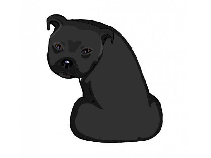 STAFFORDSHIRE BULL TERRIER černý