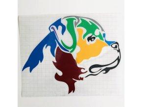 barevná samolepka rotvajle