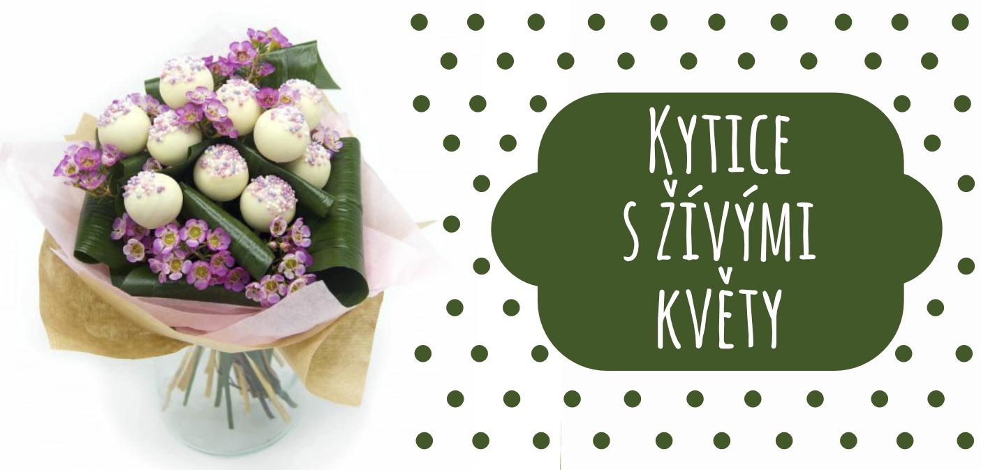 Kytice s živými květy