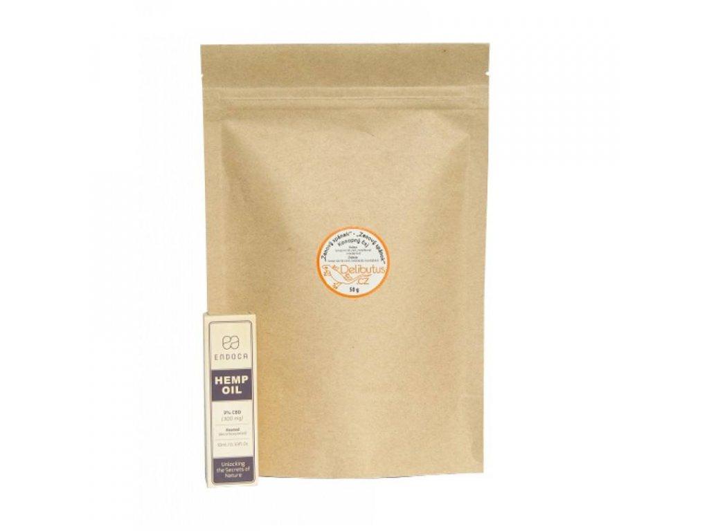 Zvýhodněné balení CBD kapky 3% a konopný čaj