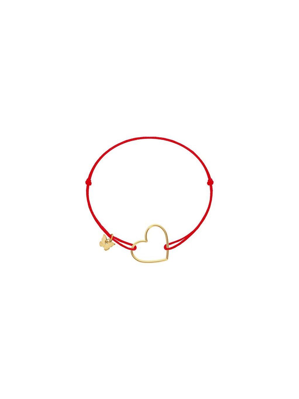 hole heart pendant naramok cervena