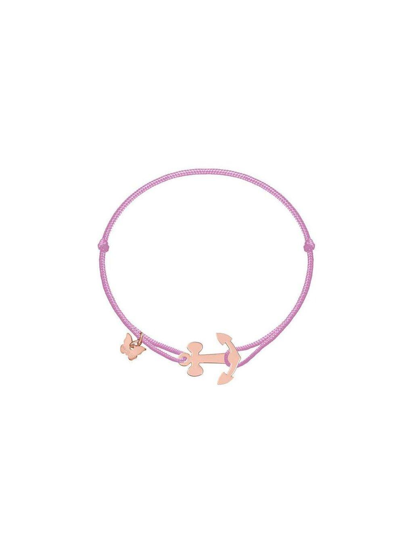 Anchor bracelet rosegold plated on antique pink 700x