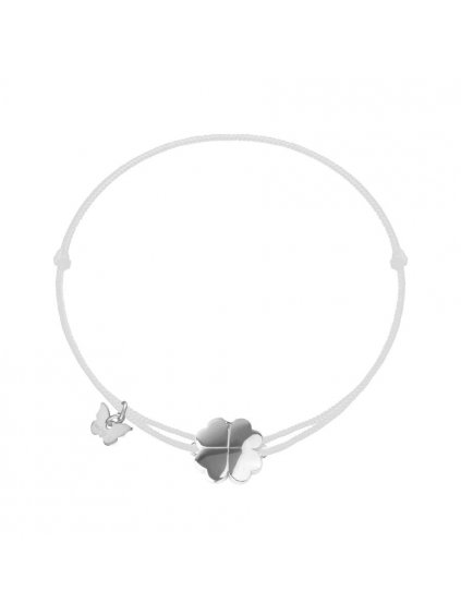 NÁRAMOK SMALL CLOVER - WHITE GOLD