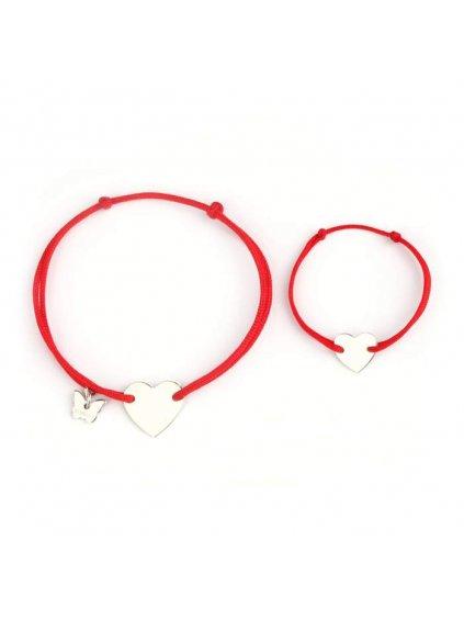 BORBOLETA maman et bebe heart bracelet red 700x