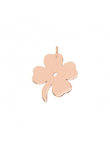 Lucky Clover pendant rosegold plated 700x