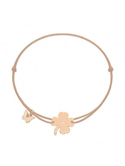 Lucky Clover bracelet rosegold plated on mocha 700x