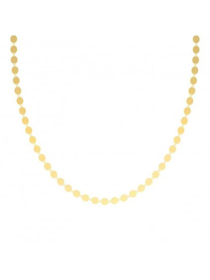 Round plates necklace yellow gold plated 700x