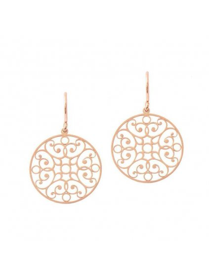Lace Circle earrings rosegold plated 700x