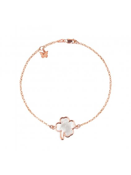NÁRAMOK STERLING SILVER MOTHER OF PEARL CLOVER ROSE GOLD