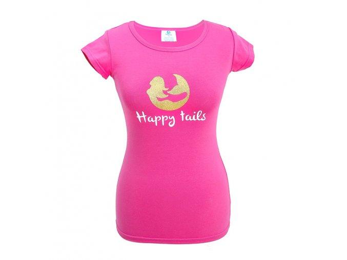 tricko damske happytails pink web
