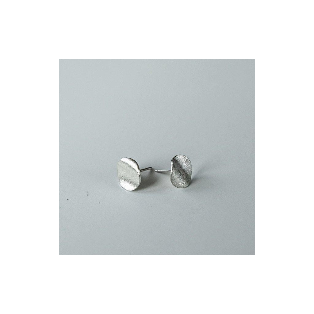 Náušnice wavy M / stříbro Ag925/1000