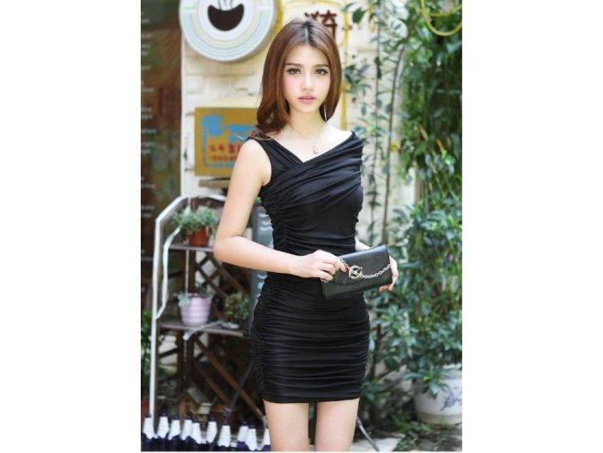 Černé elegantní sexy šaty