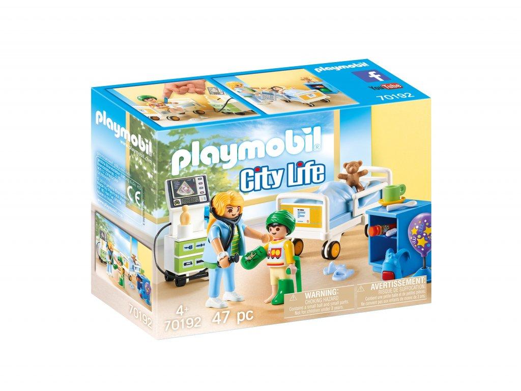 Playmobil dětský nemocniční pokoj