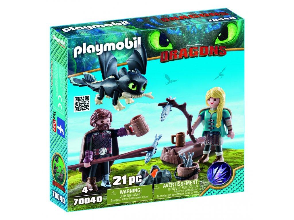 Playmobil Škyťák a Astrid s dráčetem